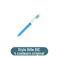 stylo bille bic 4 couleurs original