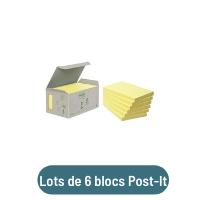 lot de 6 blocs post-it