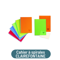 cahier spirales clairefontaine