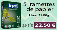 Ramettes papier promo