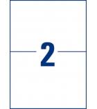 Boîte de 50 étiquettes enlevables AVERY - L4734Rev-25 - 199,6 x 143,5 mm