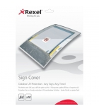 Pochette REXEL Sign Maker - anti-UV pour affichage extérieur - A4