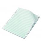 Carton papier listing 2000 plis 11''x 240 mm - 1+0 - 60 g - zoné vert - bande caroll fixe