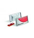 Boîte de 10 badges DURABLE Classic Premium - avec aimant 30 x 65 mm