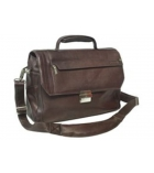 Sac ordinateur en cuir marron Urban line