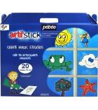 Pack de 20 tubes de peinture PEBEO Artistick 75 ml + accessoires