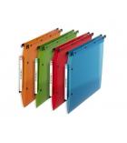 Paquet de 10 dossiers suspendus polypro translucides pour armoire L'OBLIQUE -  fond 30 mm