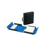 Valisette en carton Chairman ARIANEX - 4 anneaux + pince simili-cuir dos 8 cm