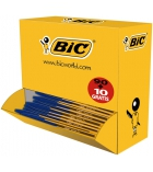 Pack 90+10 stylos BIC - Cristal - pointe moyenne 0,8 mm
