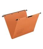 Paquet de 25 dossiers suspendus pour tiroir L'OBLIQUE Kraft - Velcro - fond 15 mm