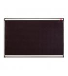 Tableau d'affichage mousse noire NOBO - cadre alu 1200 x 900 mm