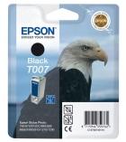"""Cartouche d'impression""""aigle"""" jet d'encre noire phot EPSON 540 pages - C13T007401 - T007"""