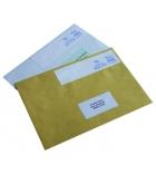 Boîte de 1000 étiquettes à affranchir AVERY 11-805 - 80 x 2 x 40 mm - 2 de front