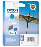 """Cartouche d'impression """"parasol"""" jet d'encre cyan EPSON 400 pages - C13T044240 - T0442"""