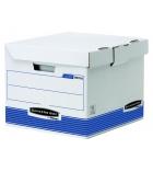 Lot de 10 caisses archives pour 4 boîtes FELLOWES System - dos 8 cm