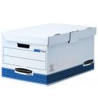 Lot de 10 caisses archives pour 6 boîtes FELLOWES System - dos 8 cm