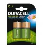 Paquet de 2 piles rechargeables DURACELL - HR14 - 1,5 volts