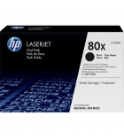 Pack 2 cartouches d'impression laser noires HP 2x6900 pages - CF280XD - 80XD