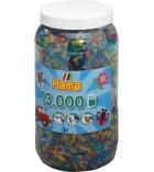 Pot de 13000 perles midi à repasser dès 5 ans - assortiment pailleté