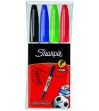 Pochette de 4 marqueurs SHARPIE - pointe fine ogive - assortiment