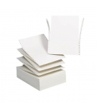 Carton papier listing 2000 plis 12''x240 mm 1+0 70g - bande caroll détachable - fond blanc