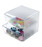 Cube de rangement - 2 tiroirs