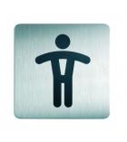 Plaque picto toilettes DURABLE - hommes