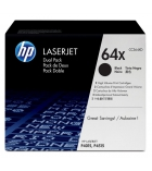 Pack 2 cartouches d'impression laser HP toner noir 2 x 24000 pages - CC364XD - 64XD