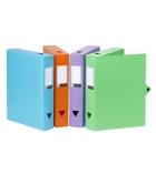 Lot de 8 boîtes de classement VIQUEL Filing - polypro - dos 6 cm - assortiment