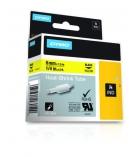 Gaine thermo-rétractable DYMO pour rhino - 6 mm - noir/jaune