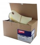 Boîte de 200 étiquettes américaines APLI 101580 - avec fil de fer - 120 x 57 mm