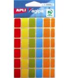 Pochette de 120 pastilles adhésives APLI 115113 - 12 x 18 mm - assortiment