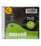 Pack de 10 DVD+R boîtier slim - 4,7 Go