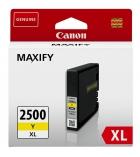 Cartouche d'impression jet d'encre jaune CANON 1500 pages - PGI-2500XL