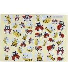 Pochette de 720 gommettes 20 planches - fleurs/abeilles/coccinelles