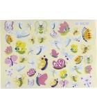 Pochette de 720 gommettes 20 planches - oiseaux/papillons/libéllules