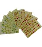 Pochette de 1438 gommettes 24 planches - feuilles d'arbres