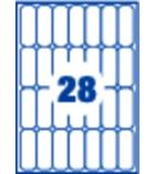 Boîte16 feuilles A5 - 448 étiquettes multiusages adhésives APLI - 114036 - 48,5 x 18,5 mm