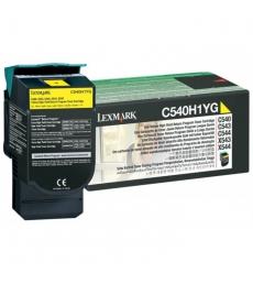 Cartouche d'impression laser couleur jaune LEXMARK 2000 pages - C540H1YG