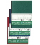 Piqûre comptable à tête paresseuse EXACOMPTA 14080 - 8 colonnes sur 1 page - 32 x 25 cm