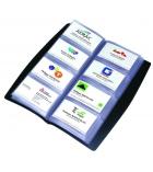 Porte-cartes de visite tout terrain PVC - 27,5 x 14cm - pour 240 cartes