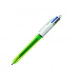Stylo bille BIC - 4 couleurs Fluo 3 couleurs 1 mm + 1 couleur 1,6 mm