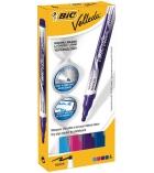 Boîte de 4 marqueurs effaçables BIC - Velleda Liquid Ink funs
