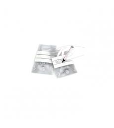 Paquet de 100 sacs plastique fermeture rapide et bande blanche - 120 x 180 mm