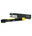Cartouche laser jaune LEXMARK 24000 pages - X950X2YG