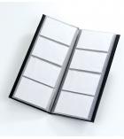 Porte-cartes de visite élégance PVC  - 25,6 x 10cm - pour 64 cartes format international