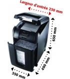 Destructeur de documents REXEL - Auto+ 300X - coupe croisée 4 x 40 mm - 40 litres