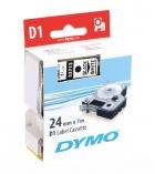 Ruban laminé DYMO D1 - 24 mm x 7 m - noir/blanc
