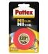 Adhésif PATTEX - fixation ni clou ni vis - ruban 19 mm x 1,5 m