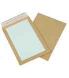 Boîte de 100 pochettes auto-adhésives kraft brun - 260 x 330 mm - sans fenêtre - dos carton - 120 g